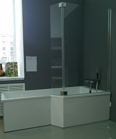 ванна акриловая 150х80 60 см Jacob Delafon Bain Douche Neo E6d119l 00 левая